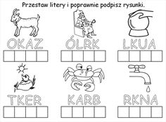 Użyj STRZAŁEK na KLAWIATURZE do przełączania zdjeć Cute Coloring Pages, Speech Pathology, Asd, Montessori, Hand Lettering, Alphabet, Diagram, Education, Reading