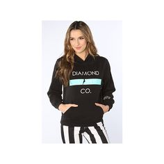 Diamond Supply Co. The Bar Hoodie in Black ($80) ❤ liked on Polyvore