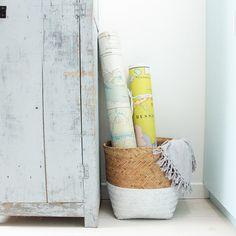 15 DIY pour une décoration ethnique / Customisez une corbeille en osier / DIY corbeille