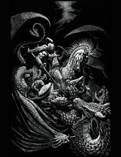 St George and the Dragon by SMorrisonArt.deviantart.com on @DeviantArt