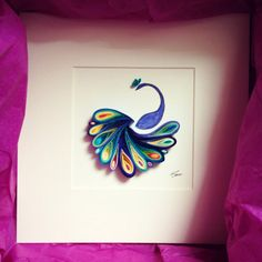 "Quilled Paper Art: ""I'm like a bird"" by SenaRuna. This quilling is created and…"