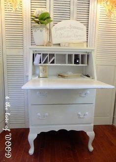 refinished secretary desk after