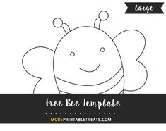 Free Bee Template - Large
