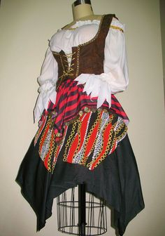 Renaissance Pirate Wench Costumes by FashionRules on Etsy, $49.00
