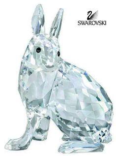 "Swarovski Crystal Figurine ARTIC HARE EVENT PIECE 2011 #1055005 Size: 2"" x 1.25"" New in original box"