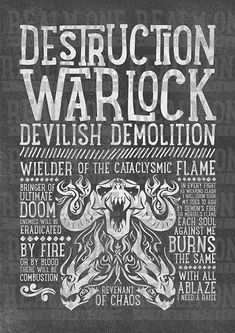 World of Warcraft Class Specialization / Roleplaying / Fantasy Inspired Art Print - Destruction Warlock - Clothing, Art Prints and Posters Available now! #worldofwarcraft #wowwarlock #demonologywarlock #worldofwarcraftwarlock #warcraftart #warlockart #realmone #realmonestore #rpgclass #warlocktshirt #worldofwarcrafttshirt #worldofwarcrafttee