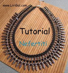 Tutorial Nefertiti SuperDuo Necklace PDF by Lirigal on Etsy, $10.00