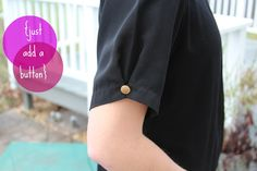 DIY::how to alter over-sized vintage sleeves.  {easy fix: just add a button}