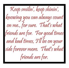 Dionne Warwick - That's What Friends Are For - song lyrics, songs, music lyrics, song quotes