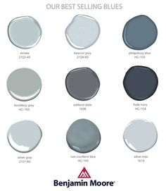Best Selling Blues and Grays by Benjamin Moore for my dream house More