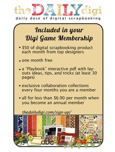The Daily Digi: Digi Files Membership The BEST deal in high quality digital scrapbooking supplies there is!