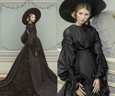 Robe vintage Robe vaporeuse cygne noir à sublimer le soir