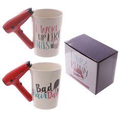 Hair Drier Shaped Handle Ceramic Mug Price: 7.50 GBP