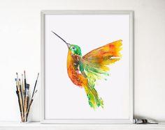 Kolibrie schilderij-hummingbird painting-vogel