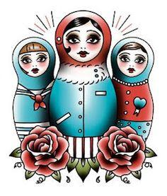 Angelique Houtkamp Tattoo Art ~ Matryoshka Russian Dolls
