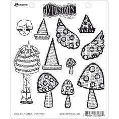 Dylusions Cling Stamps - Doolally Dorris - Baste-Welt Schobes