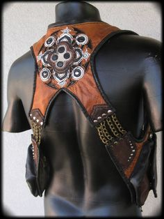 Custom Logo Leather Inlay Shoulder Holster, Reversible, Detachable Hood