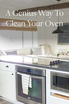 A Genius Way to Clean Your Oven. It won't set your fire alarm off and is the easiest way to clean your oven by far.