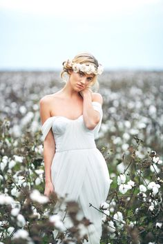 Cotton Field Bridal Shoot by Love Is a Big Deal  Read more - http://www.stylemepretty.com/georgia-weddings/2011/11/23/cotton-field-bridal-shoot-by-love-is-a-big-deal/