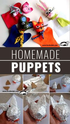 DIY Christmas Gifts for Kids - Homemade Christmas Presents for Children and Christmas Crafts for Kids | Toys, Dress Up Clothes, Dolls and Fun Games | Step by Step tutorials and instructions for cool gifts to make for boys and girls | Homemade-Puppets | http://diyjoy.com/diy-christmas-gifts-for-kids