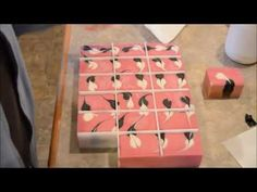 The Making & Unmolding of Cherry Blossom Soap - YouTube