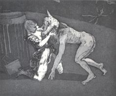 Paula Rego, 'Him' From Pendle Witches, 1996 Etching on paper Dimensions: 448 x 297 mm Drypoint Etching, Art Database, Gravure, Red Riding Hood, Mythology, Art Gallery, My Arts, Sketches, Fine Art