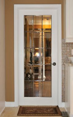 Distinctive Interiors - Elegant Clear Beveled Glass French door with Zinc Caming & Distinctive Interiors - Beveled Glass French door with Brass ... Pezcame.Com