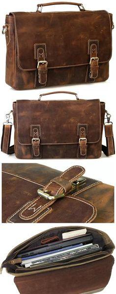 Men's Handmade Vintage Leather Briefcase