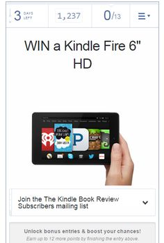 Dec. 14 to Dec. 19, 2015 Kindle Fire Giveaway! Enter to Win Now!