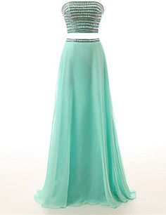 Formal+Evening+Dress+-+Sparkle+&+Shine+A-line+Strapless+Floor-length+Chiffon+with+Beading+–+USD+$+345.00