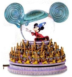 Disney Sorceror Mickey mouse ears Snowglobe