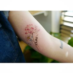 : Chinese milk vetch   자운영과 데이지  .  .  #tattooistbanul #tattoo #tattooing  #flower #flowertattoo #colortattoo #daisy   #타투이스트바늘 #타투 #꽃 #꽃타투 #컬러타투