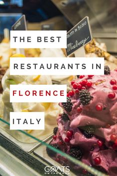 In Italy, travel can be all around food.Here is a list of the best restaurants in Florence Italy, ordered by time of the day.