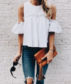 Cold shoulder top.