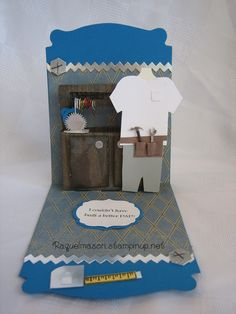 Pop N Cut w/ Stampin Up base & Dress Form insert masculine tool bench
