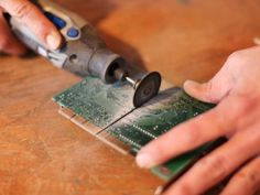 Cutting Circuit Board With Handheld Electric Saw