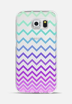 Pastel Ombre Chevron Transparent Galaxy S6 Edge Case by Organic Saturation | Casetify