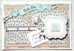 Kaisercraft: Pitter Patter: Baby boy card