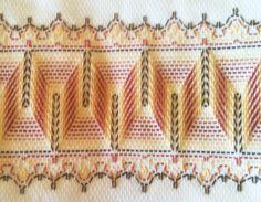 Huck Embroidery Patterns Swedish Weaving Aka Huck Weaving For Beginners Slant Stitch Split Stitch. Huck Embroidery Patterns Swedish Weaving Patterns F. Swedish Embroidery, Towel Embroidery, Embroidery Patterns Free, Embroidery For Beginners, Cross Stitch Embroidery, Cross Stitches, Free Swedish Weaving Patterns, Craft Patterns, Loom Patterns
