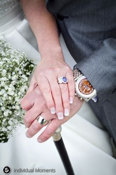 Wedding hands! Love the cane!  https://www.facebook.com/individualmoments #individualmoments #bride #wedding #rings