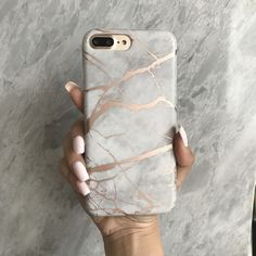 Love this gorgeous cell phone accessory! Fits my style perfectly! Beautiful protective white and rose chrome marble iPhone phone case with scratch resistant matte finish. The perfect smartphone mobile device fashion accessory and gift idea for girls, women and teens. Get yours at CASES A LA MODE! #phone #accessories #iphonecase #iphone7plus #gifts #giftideas #marble #mobile #smartphone #pastel #fashiongoals #styleinspiration Diy Iphone Case, Marble Iphone Case, Marble Case, Iphone 7 Plus Cases, Iphone Phone Cases, Rose Gold Iphone Case, Iphone Ringtone, S8 Phone, Iphone Watch