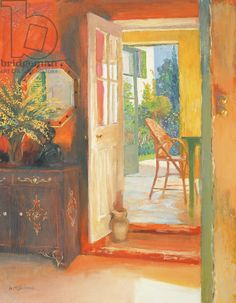 Open Door c.2000 (oil on board) Ireland William / & Big Red Doors in the French Quarter Giclee Print by Diane Millsap at ...