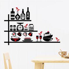 фото Кухонный набор, виниловая наклейка на стену.