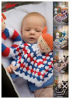 virkad snutte och skallra Crochet Baby Toys de34f6e188c91