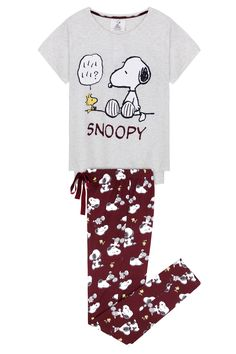 Snoopy long pyjama Women'secret by Women'secret - Lingerie Cute Pajama Sets, Cute Pjs, Cute Pajamas, Lazy Day Outfits, Cute Casual Outfits, Girls Pajamas, Pajamas Women, Snoopy Pajamas, Cute Sleepwear