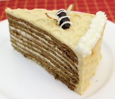 Spartak Tort (chocolate honey layer cake)