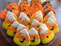 Candy Corn Cookies  (1 dozen) on Etsy, $36.00