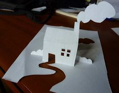 May 13th: Paper House 3D doodle for the Design Every Day Project