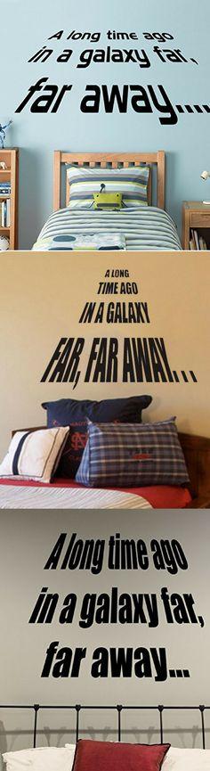 Star Wars Long Time Ago Wall Decals - Star Wars Decor #starwars #decor #decoration #art