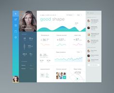 Beautiful, flat, minimal dashboard by Jakub Antalik